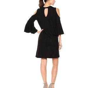 William Rast Dresses - William Rast black cold shoulder bell sleeve dress